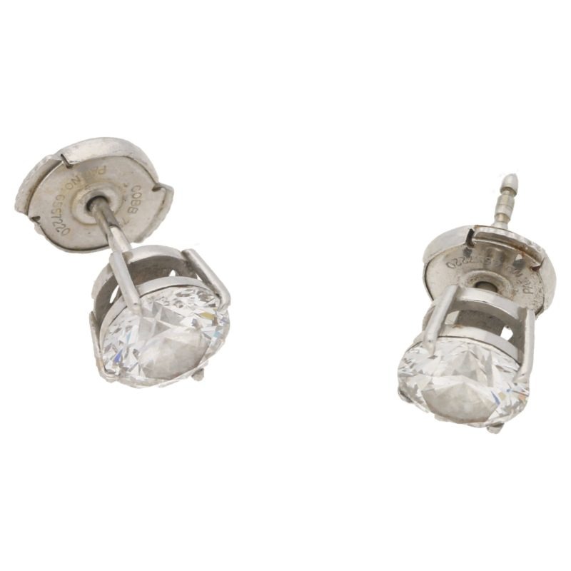 1.56cts diamond solitaire earrings