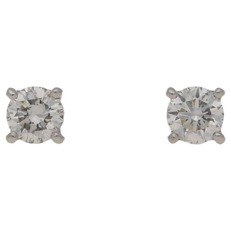 0.20ct diamond stud earrings in gold
