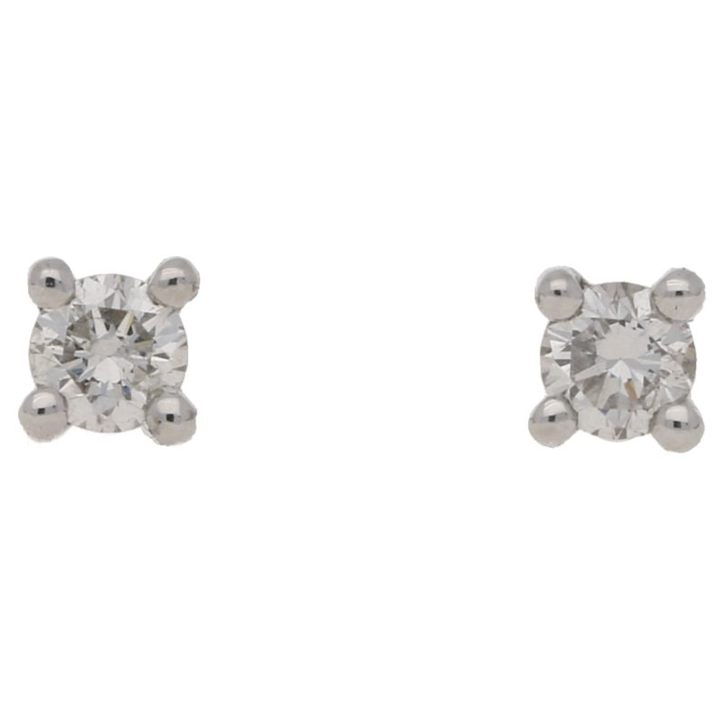 Solitaire diamond earrings 0.20 carats