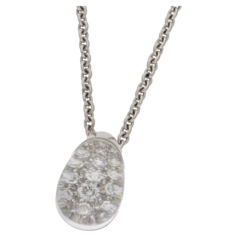"""18ct white """"myst de Cartier"""" pendant on chain"""