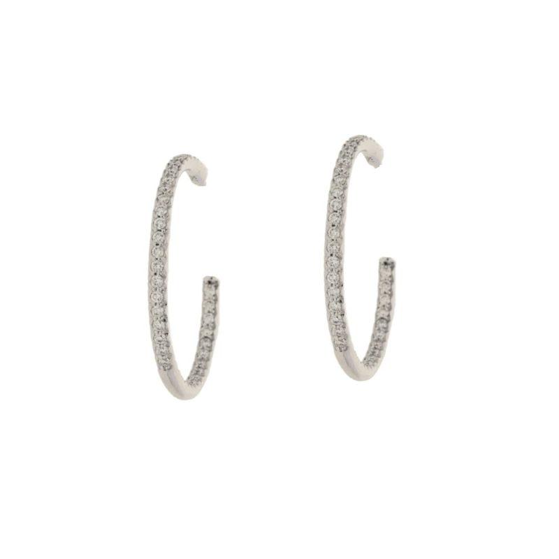 18k gold large diamond hoop earrings