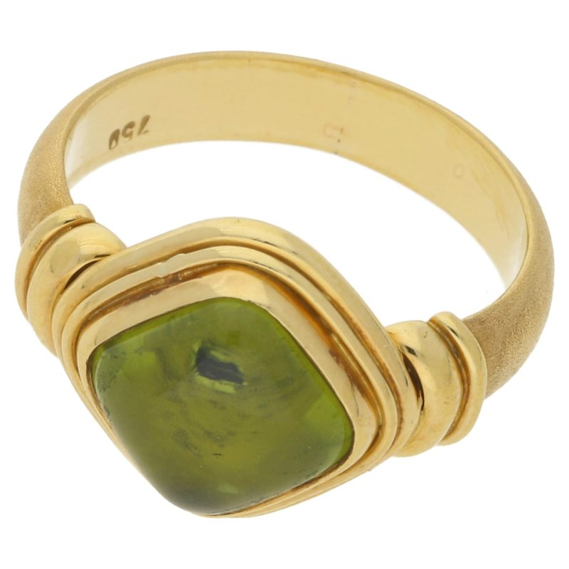18k gold peridot dress ring