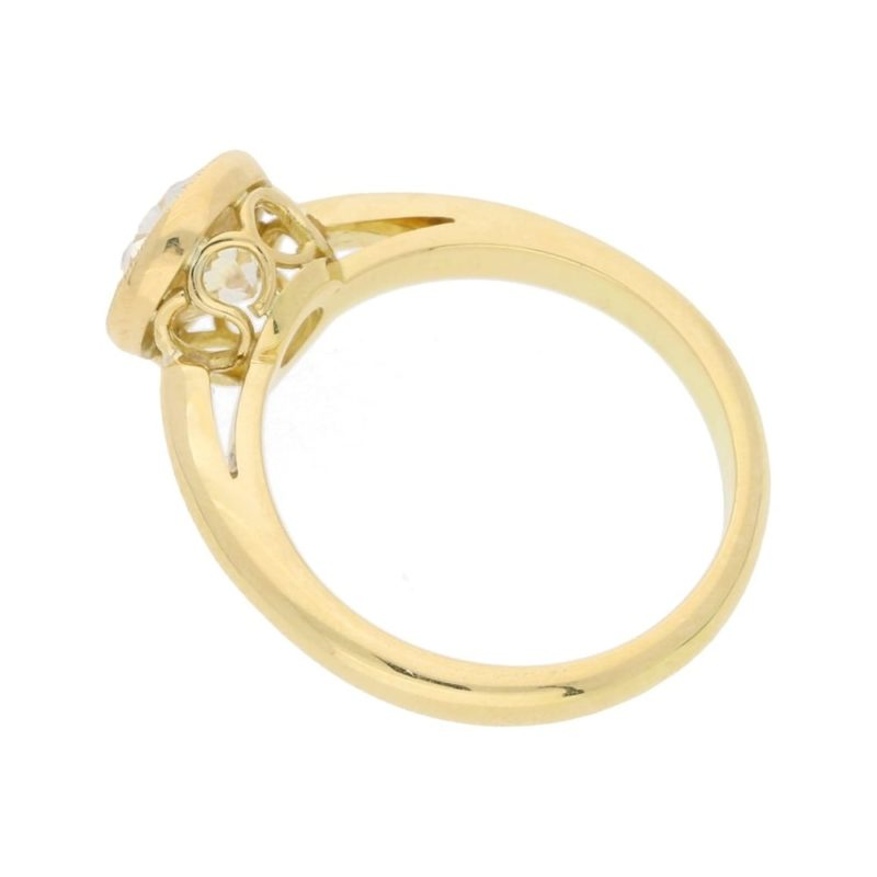 1.72ct old cut diamond single stone engagement ring