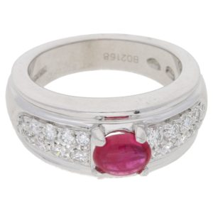 Boucheron Ruby and Diamond set Platinum Ring