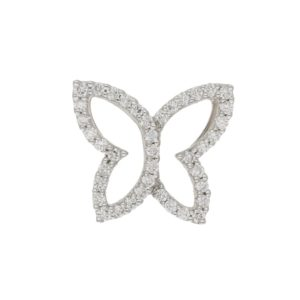 18ct white gold diamond butterfly pendant