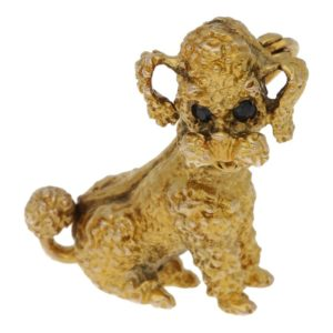 9ct gold poodle brooch