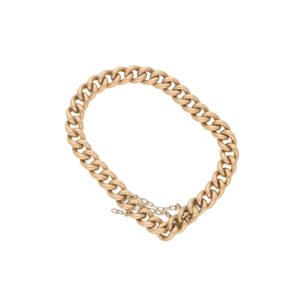 18ct rose gold charm bracelet