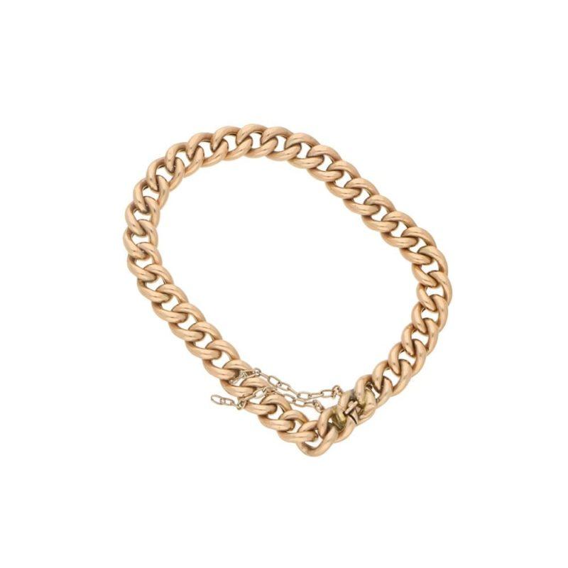18ct rose gold charm bracelet