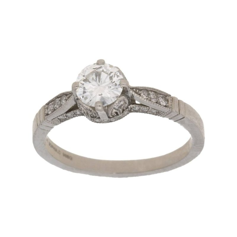Solitaire diamond engagement ring 0.55 carats