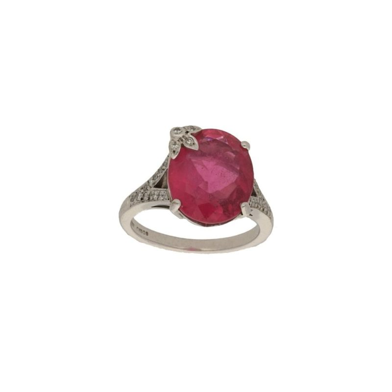 Boodles: 18ct gold pink rubelite diamond dress ring