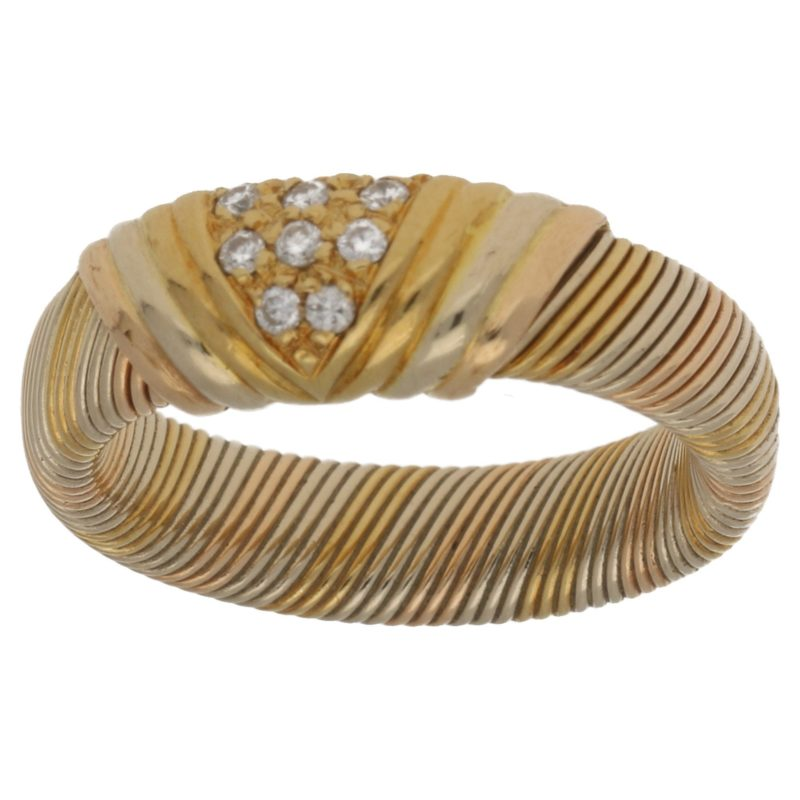 18ct gold wire design ring
