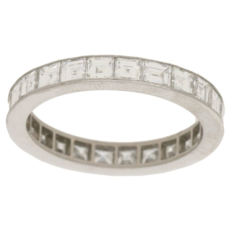 Platinum full-eternity diamond wedding band