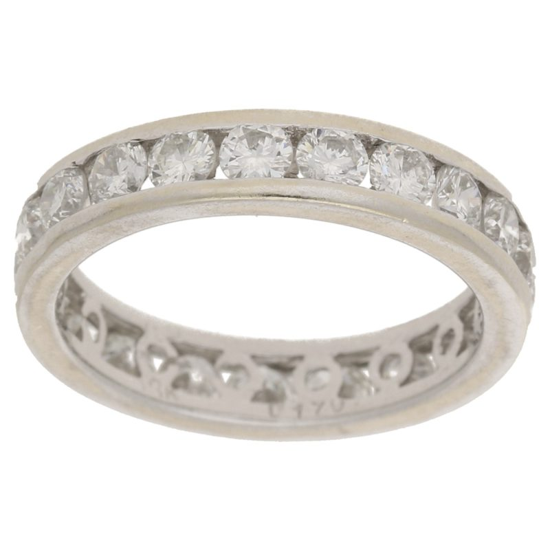 18k gold diamond full eternity ring