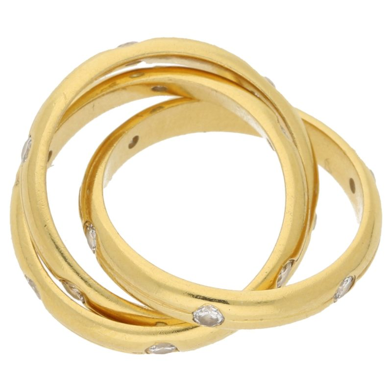 18ct gold Russian wedding band