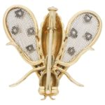 Chaumet Paris Diamond Gold Bug Brooch