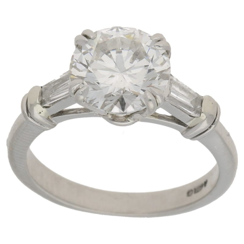 2.01ct diamond single stone engagement ring
