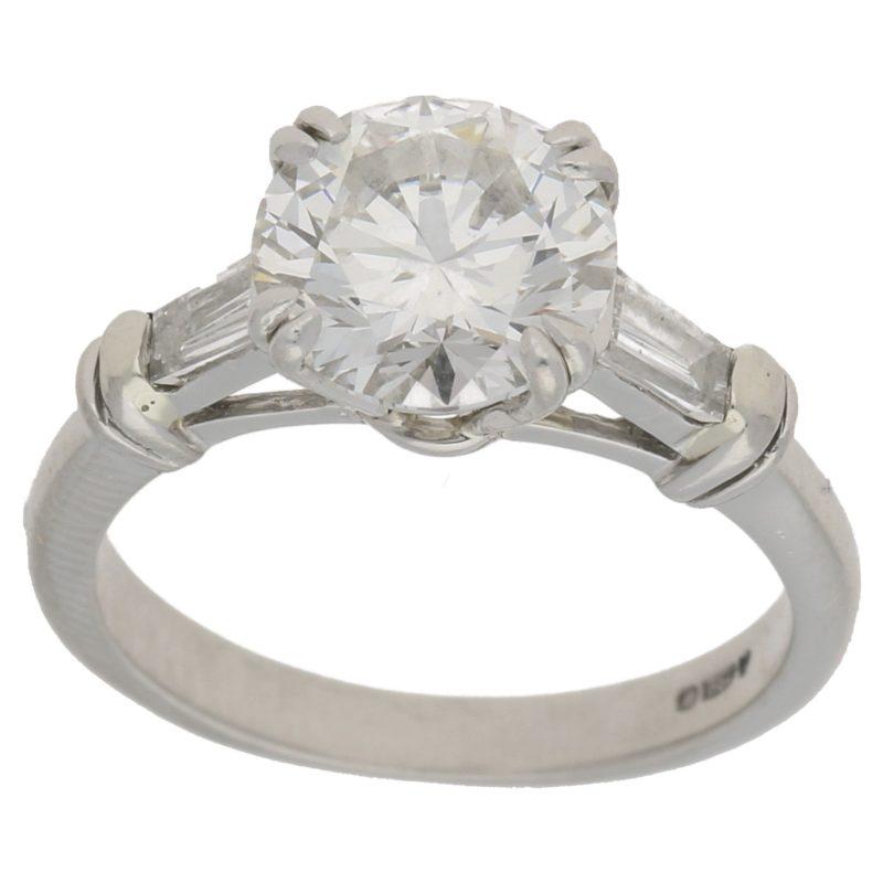 2.01ct diamond single stone engagement ring
