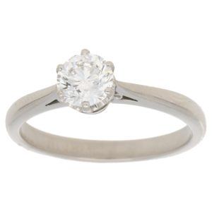0.74ct single stone diamond engagment ring