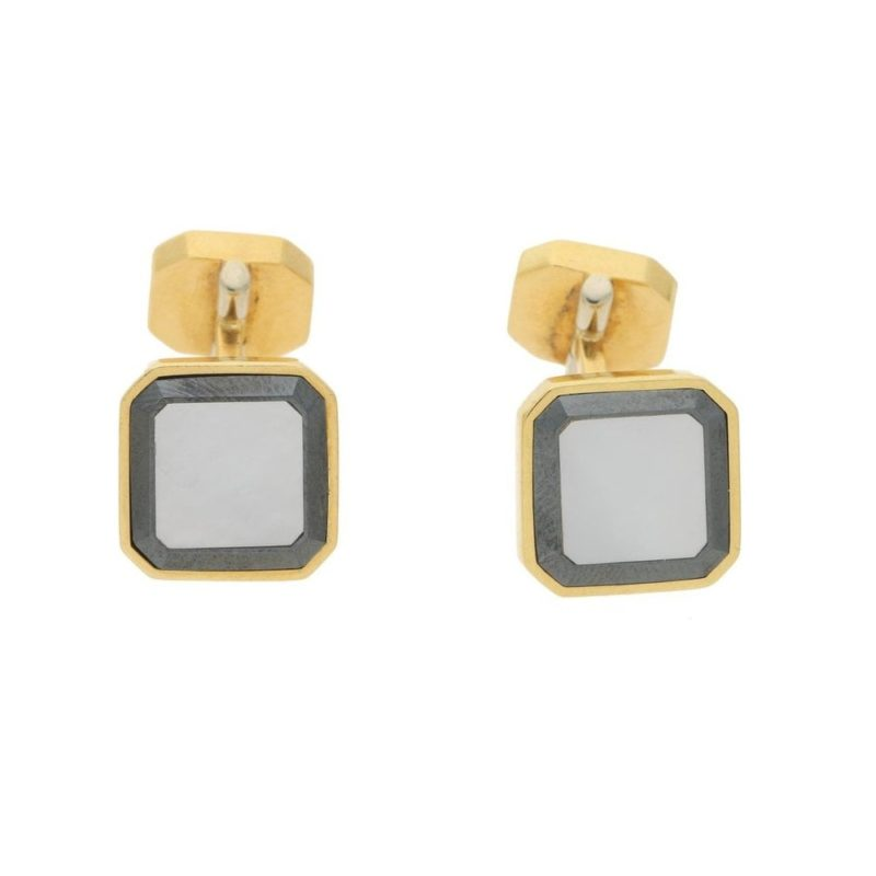 Piaget onyx and mother of pearl cufflinks