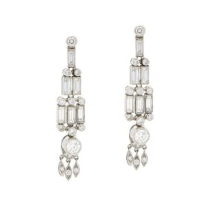 Art Deco style chandelier drop earrings