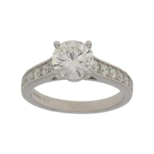 1.43 Carat diamond platinum engagement ring