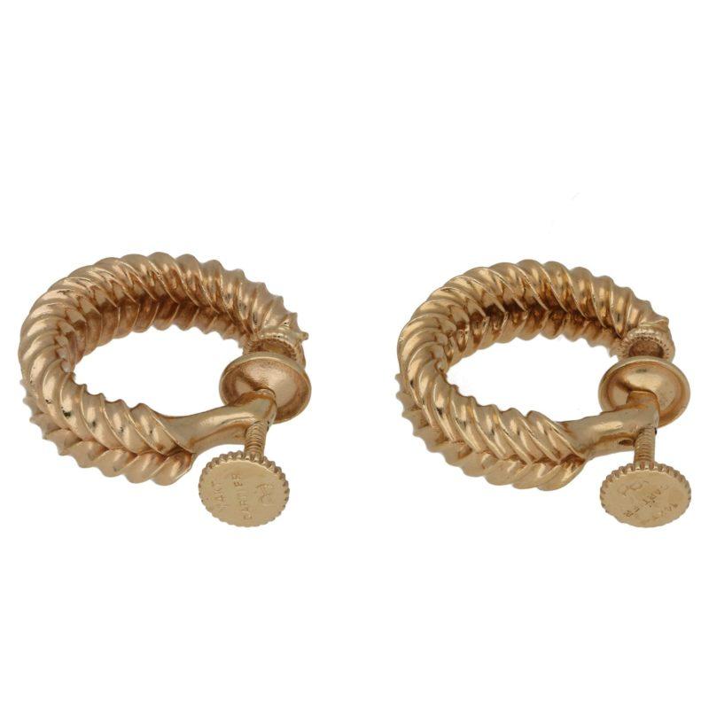 1940's gold screwback earrings