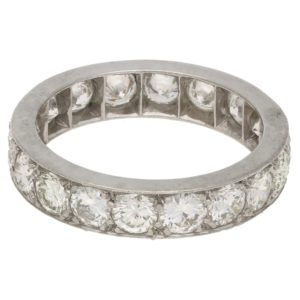 Diamond full eternity ring in white gold