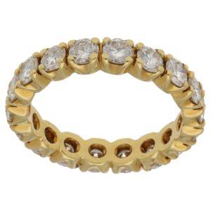 18ct yellow gold diamond set eternity ring