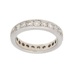 Full eternity diamond ring in white gold
