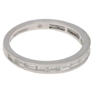 Moussaieff baguette-cut diamond half eternity ring