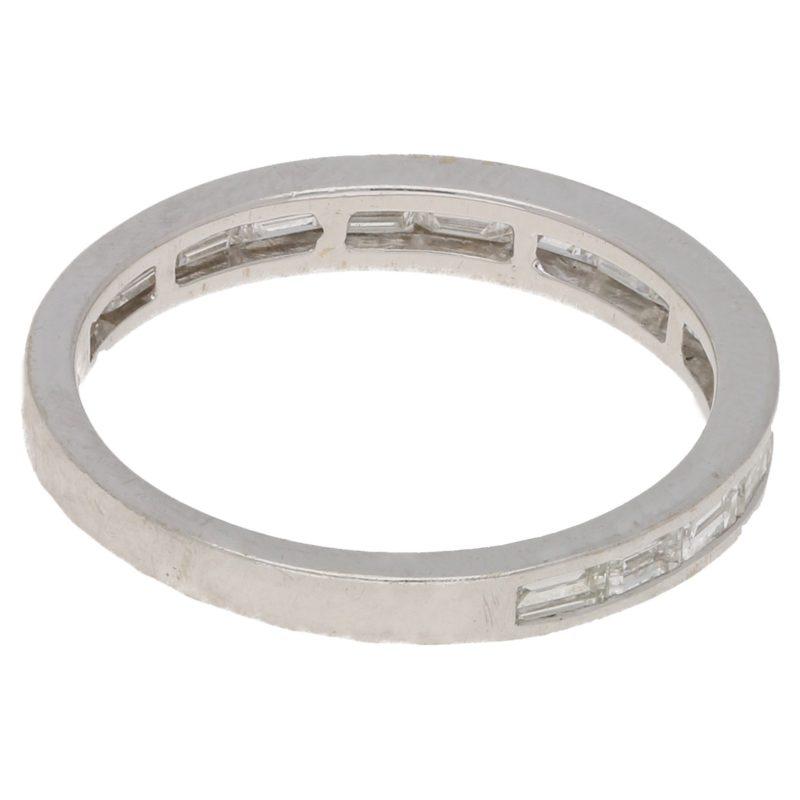 Moussaieff baguette-cut diamond half eternity ring