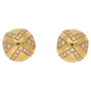 Bvlgari Diamond Ball Ear Clips, Italian