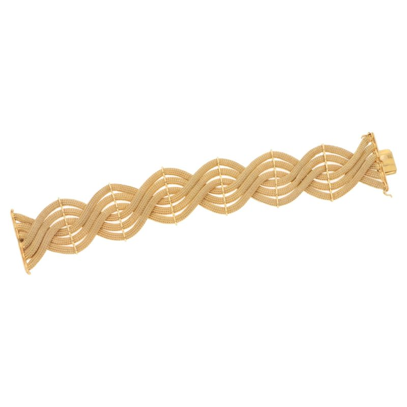 Italian rose gold twist bracelet, 1960s