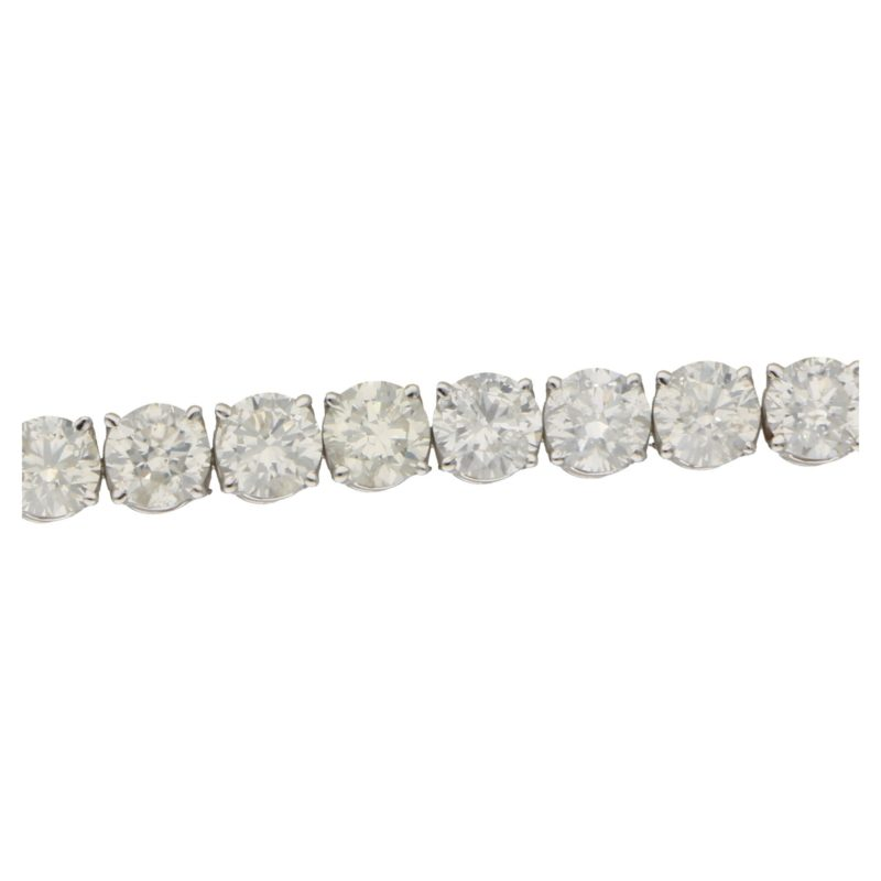 22.77ct Diamond Line Bracelet in 18ct White Gold