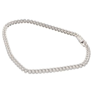 Platinum millegrain diamond line bracelet