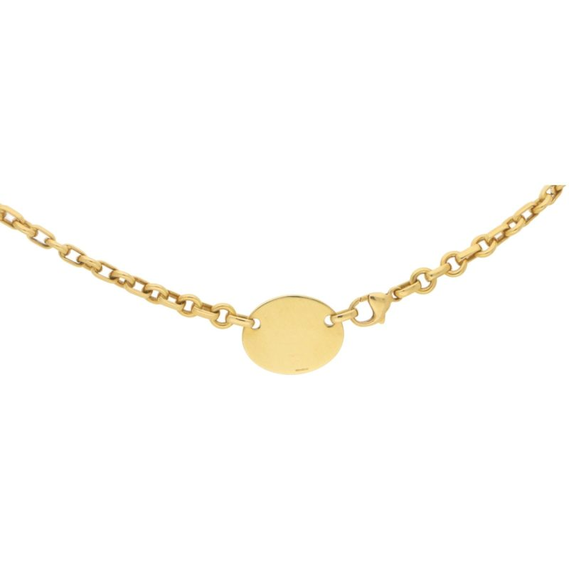 18ct gold 'please return to Tiffany' necklace