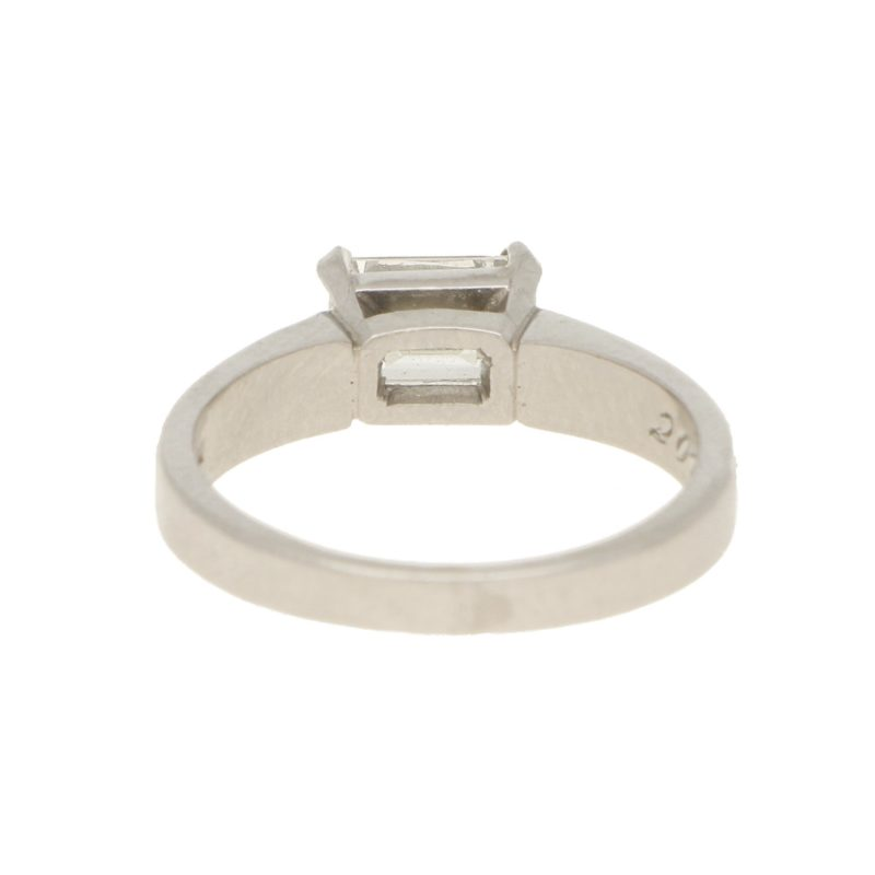 GIA-Certified 1.08ct Emerald-Cut Diamond Solitaire Ring Platinum