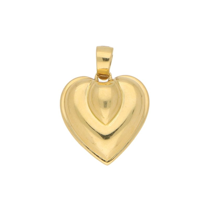 1990s Heart Pendant in Yellow Gold