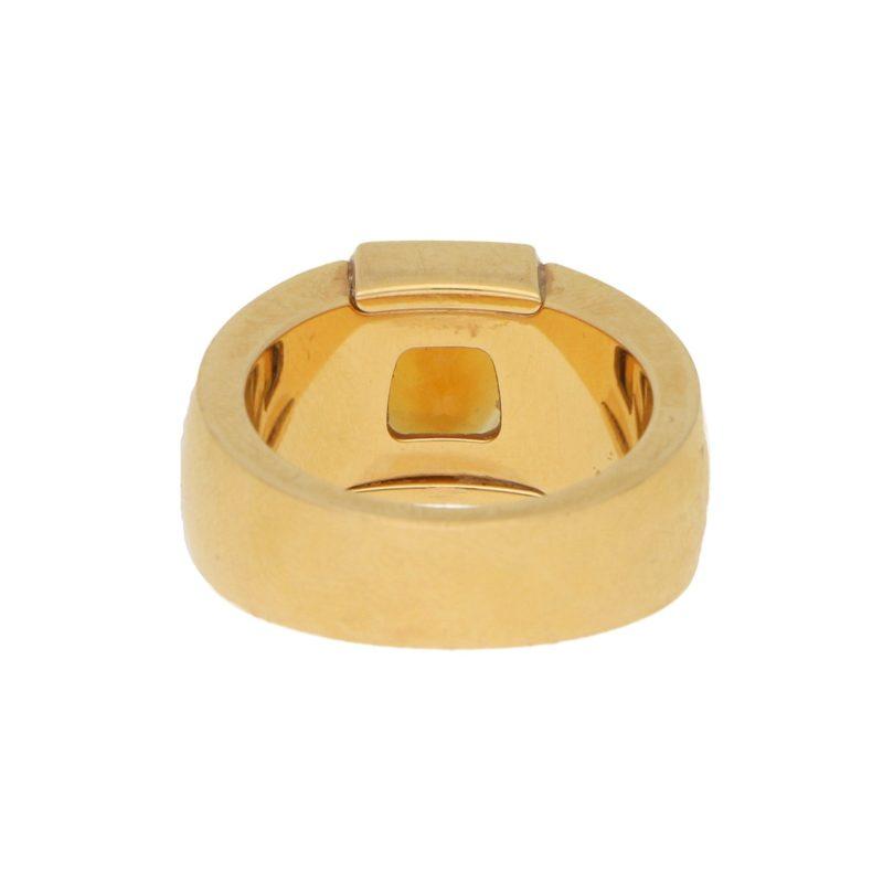 La Dona Citrine and Diamond Ring in Yellow Gold