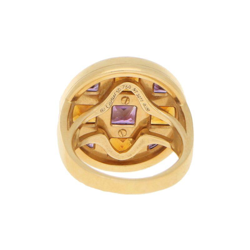 """Pasha de Cartier"" Multigemstone Cocktail Ring in Yellow Gold"