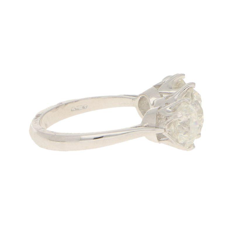 5.26ct Three-Stone Diamond Ring in Platinum