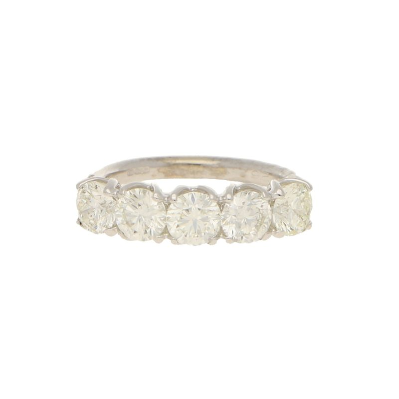 2.50ct Five-Stone Diamond Ring in White Gold