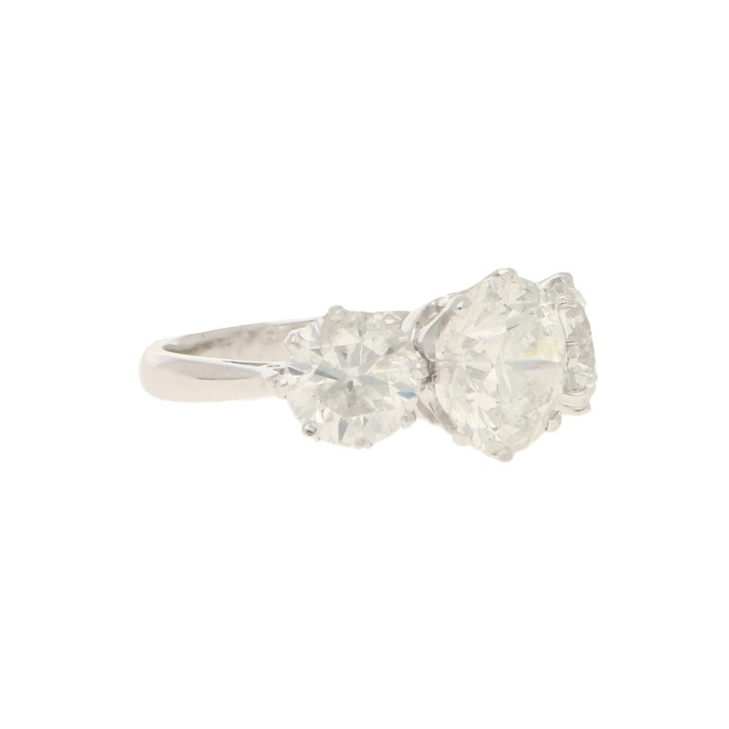 8.72ct Three-Stone Diamond Ring in Platinum