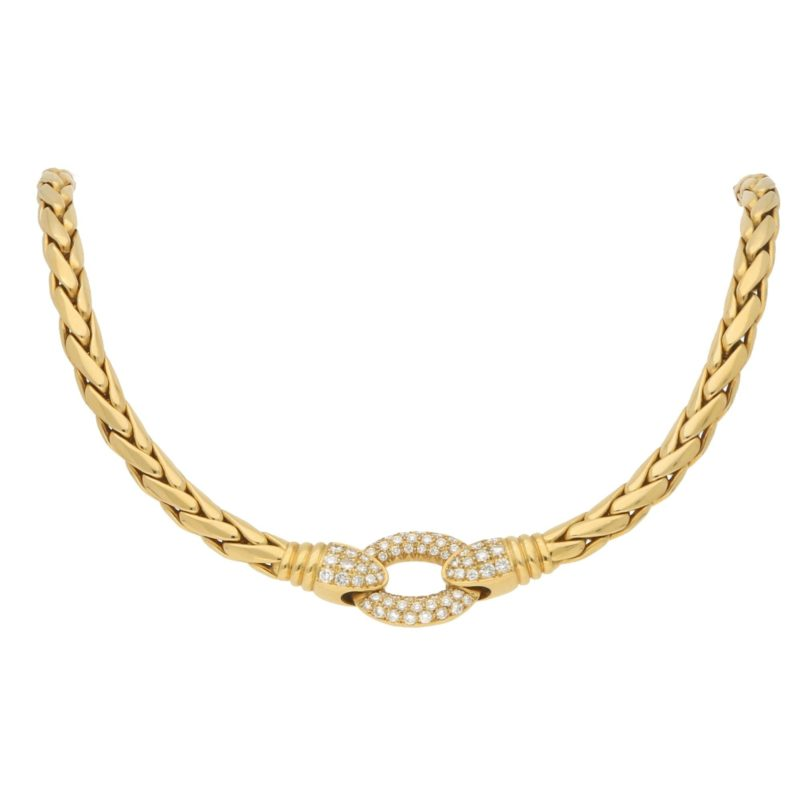 Patek Philippe Serpent Diamond Necklace in Yellow Gold