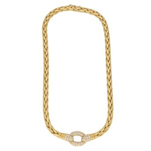 Patek Philippe Serpent Diamond Necklace in Yellow Gold