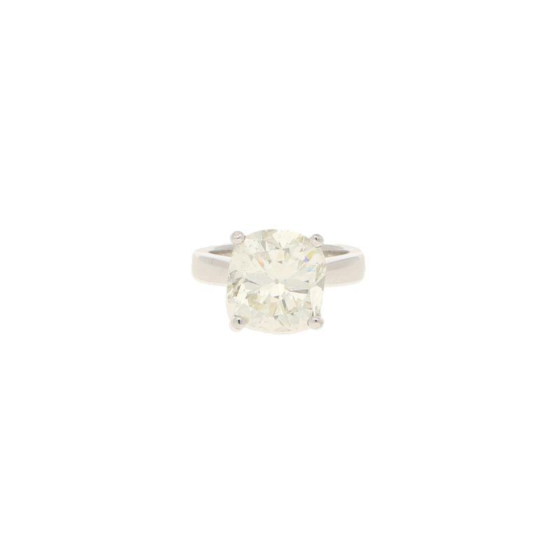 6.15ct Old Mine-Cut Diamond Solitaire Engagement Ring Platinum