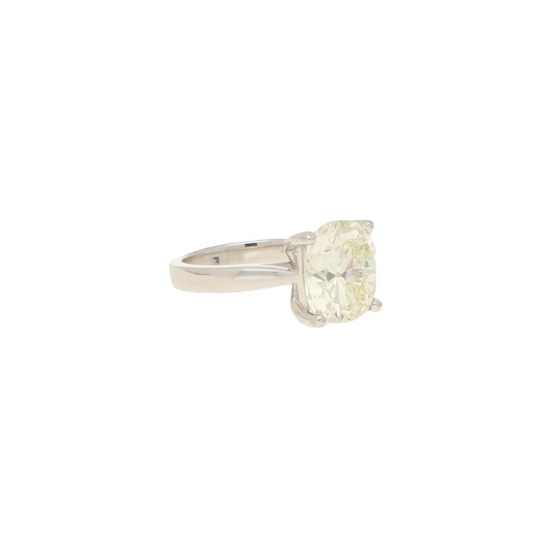 6.15ct Old Mine-Cut Diamond Solitaire Engagement Ring Platinum