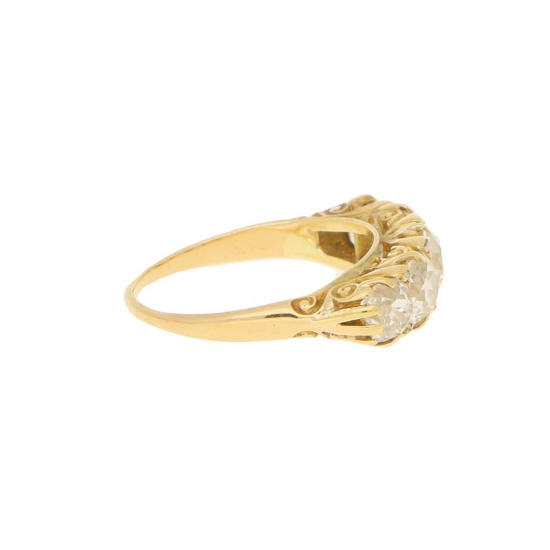 Victorian 3.50ct Diamond Five-Stone Ring in Yellow Gold
