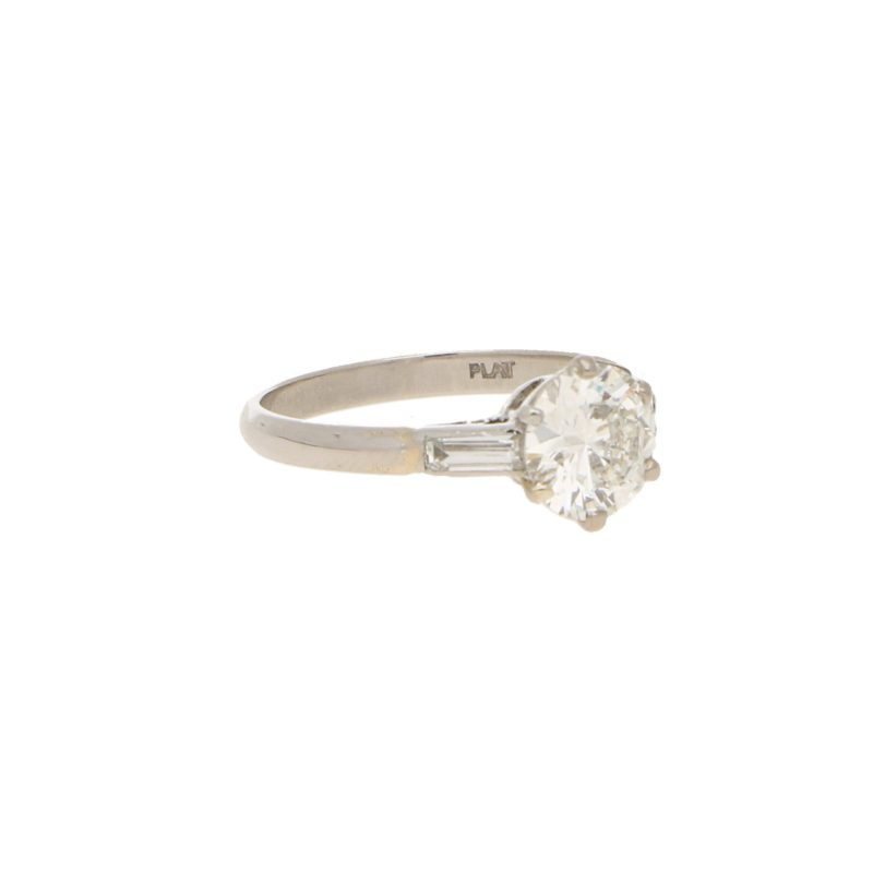 1.18ct Old European Brilliant Diamond Solitaire Ring in Platinum
