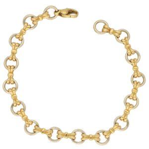 Vintage Openwork Hoop Bracelet with Bow Links, c. 1992